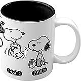 Snoopy Evolution 'The Story 1950-1990' - Taza con diseño Snoopy - Colección 2018 - para Desayuno, té, café, Chocolate