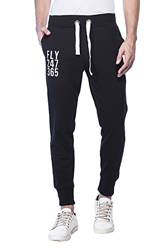 Alan Jones Clothing Men's Track Pants JOG17-FLY-P_Black_Large