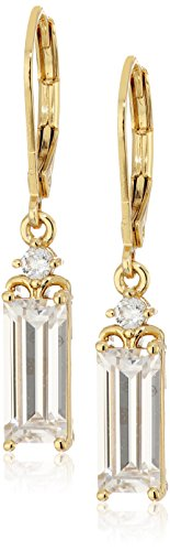 nicole-miller-baguette-drop-leverback-gold-drop-earrings