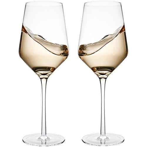 Doctor Hetzner 2 Copas de Vino Tinto, Copas de Vino de 100% Cristal, Copas de Vino Blanco sin Plomo … (Type 1)