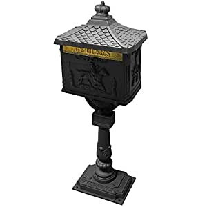 Harewood International Aluminium Black Post Box