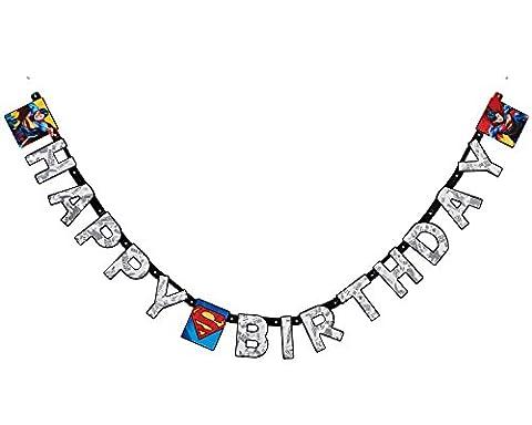 SuperMan Happy Birthday Letter Banner