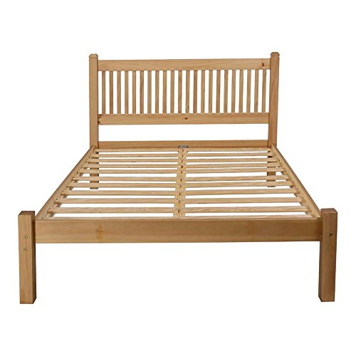 Avebury 4ft6 Double Pine Bed Frame in Oak Finish