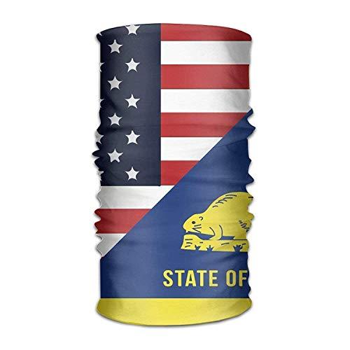 (Unisex Stylish America Oregon State Flag Quick Dry Microfiber Headwear Outdoor Magic Bandana As Neck Gaiter Head Wrap Headband Scarf Face Mask Ultra Soft Elastic One Size)