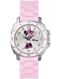 Minnie Mouse Reloj Analógico para Niñas de Cuarzo con Correa en Caucho MN1063