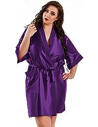 Nine X – Bata Kimono Corta de satén tamaños S de 6 ...