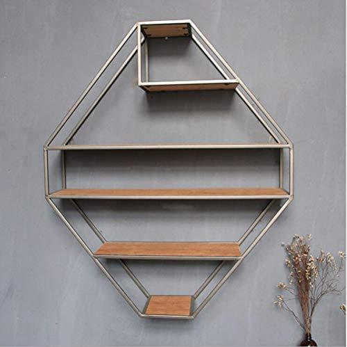 MTX Ltd Quadratisches Regal-Holzwand-Speicher-Regale für Schlafzimmer, Wohnzimmer, Badezimmer, Küche, Büro und Mehr 70 * 84 * 19Cm Sehr Langlebig
