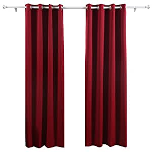Deconovo lot de 2 rideaux occultants lourdes solides de for Rideaux de porte d entree isolant