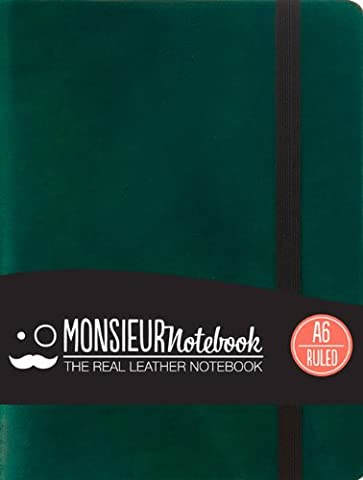 Monsieur Notebook Green Leather Ruled