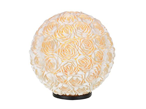 formano kugellampe Deko Kugellampe, Leuchte MUSCHEL ROSEN D. 30cm weiß Formano
