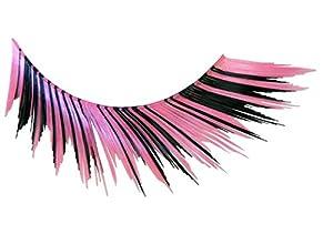 Eulenspiegel 000236 - pestañas artificiales - Negro/color de rosa - 2 x 1 piezas