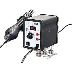 OUKANING SMD 700W 858D Estación Digital con Pistola Soplador de Aire Caliente para Soldadura Desoldante