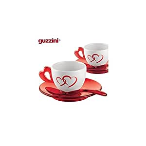 Guzzini Love Espresso Cups with Saucers