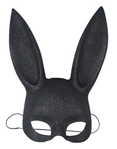 Lukis Kaninchen Maske Damen Halloween Erwachsene Tiermaske Hasen Party Kostüm Zubehör ()