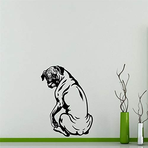 ljradj New Wall Inner Mar Art Decoration Dog Bull Dog Wall Sticker Home Special Decorative Vinyl Mural Series Wallpaper Poster Black 87 x 120 cm