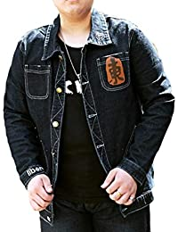 cfzsyyw Mens Casual Big-Tall Single Breasted Loose Fit Denim Trucker Jackets