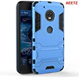 AEETZ® Moto G5S Plus Case, G5S Plus Back Case And Cover, Armor Dual Layer Defender Protective Case Hybrid Bumper Phone Cover With Kickstand For Motorola Moto G5S Plus / G 5S Plus - Sky Blue