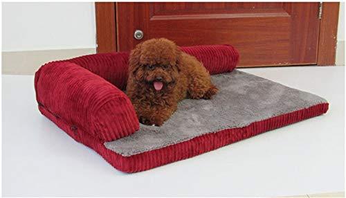HYOJISY Letto per Animali Domestici Grande Letto per Cani Divano Cane Gatto Cuscino per Animali Domestici per Cani di Grossa Taglia Lavabile Nido Gatto Teddy Cucciolo Mat Cuccia Cuscino Quad