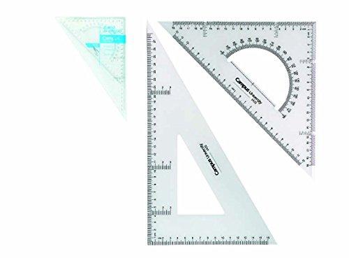 6x Set de dibujo Campus University Técnico 30cm | Escuadra Cartabón Semicírculo