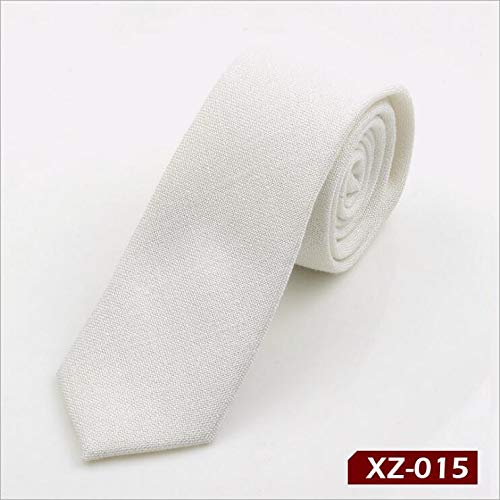 KHKJ RBOCOTT Solid Cotton Tie 6cm Slim Tie Striped Men's Casual Blue Black Skinny Ties Red Green Gray Necktie for Men Wedding -