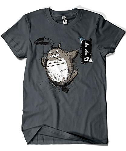 Camisetas La Colmena 1087-Parodie Totoro - Flying with My Neighbor T-Shirt (Dr.Monekers)