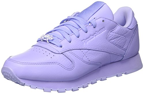 Reebok Classic Leather L, basses Femme - Violet (Grit-Lilac Glow/Sleek Met), 37 EU (4 UK)