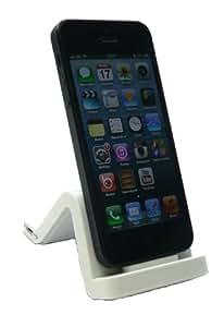 Emartbuy® Apple Iphone 5 5s Weiß Wave Design Kompatibel Premium Desktop Docking Station Cradle Charger