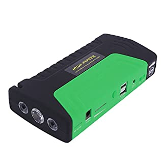 cnmodle 400A pico 15000mAh Portable Car Jump Starter Emergencia Recargable Booster Pack Smart Power Bank con linterna de 3LED, Power Bank Batería Externa Dual USB cargador móvil para iphone, Samsung, iPad, Tablet, Sony, MP3/MP4y más