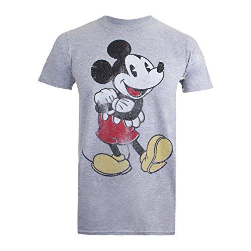 Disney Herren Vintage Mickey T-Shirt, Grau (Sport Grey), XL