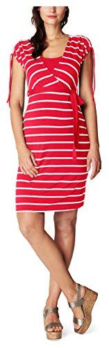 Noppies Dress Nurs Ss Lotta Yd 70113, Vêtements de Maternité Femme Mehrfarbig (Coral C072)