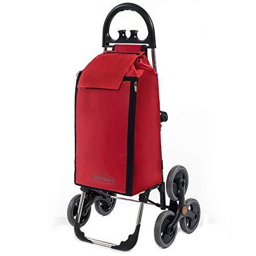 Einkaufstrolley rot - Seena rote Einkaufsroller im Angebot