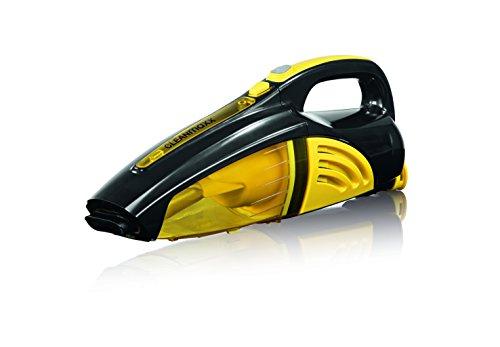 CLEANmaxx 00973 Akku-Handstaubsauger | Nass-Sauger und Trocken-Sauger in einem | Kabellos dank 7,4 V Akku | Inkl. Diverser Aufsätze | Ideal auch fürs Auto | Schwarz-Gelb