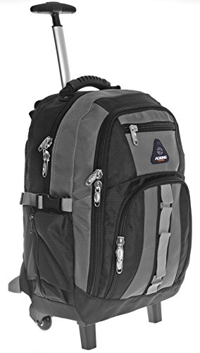 Carrello pieghevole zaino trolley scuola zaino Satchel Rucksacktrolley carrello pieghevole trolley bag in vari colori Multicolore grey/black xl