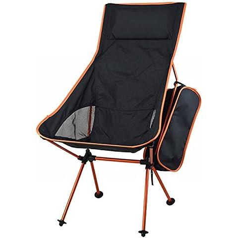 portatile pieghevole campeggio sedia, sedile in lega