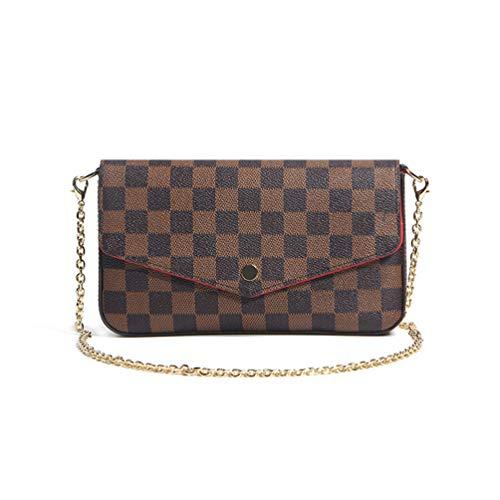 Skeen Kleine Tasche Weibliche Sommer Casual Damen Schultertasche Lederteil Einfache Wilde Retro Kleine Quadratische Tasche