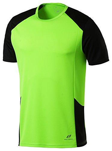 Pro Touch Cup Herren T-Shirt, Grün Gecko/Schwarz, L -