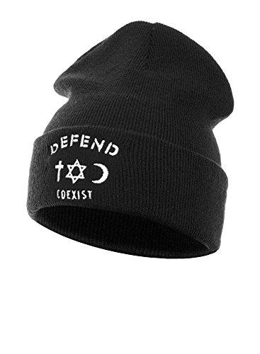 Defend Paris Beanie, Uomo, nero, Taglia unica