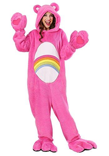 Kostüm Deluxe Bear - Care Bears Deluxe Cheer Bear Kostüm für Erwachsene - M