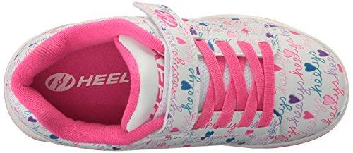 Heelys Dual Up 770231 - Sneakers Basses - Fille Blanc Cassé (White / Pink / Multi)