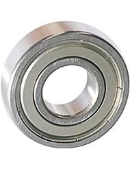 EZO - Roulement à billes à gorge profonde rangée simple en acier inoxydable 6203 ZZ (17x40x12)