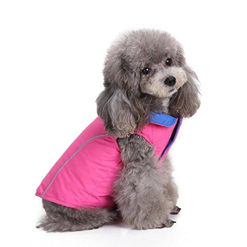 selmai Weiches Warmes Wendejacke Pet Puppy Dog Gepolsterte Jacke kaltem Wetter Weste Hund Winter Bekleidung für kleine Hunde Katze