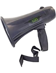 UZI Ultra Mini Megaphone Rated 10W/ MAX 15W with Recording and Repeat Playback,part no.UZI-MP-204R. by CampCo
