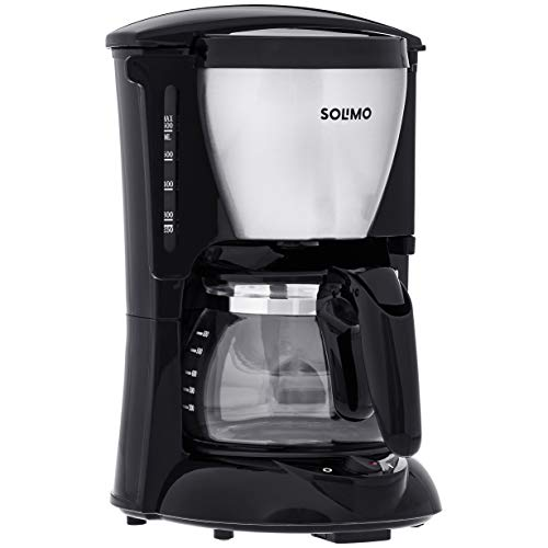 Amazon Brand - Solimo Elan 600 ml Coffee Maker, Silver