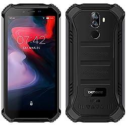 DOOGEE S40 (3GB+32GB) - Télephone Portable incassable debloqué 4G Android 9,0 - 5,5 '' (Gorilla Glass 4) IP68 / IP69K extérieur étanche imperméable Smartphone Militaire,Double SIM, 4650mAh, NFC Noir