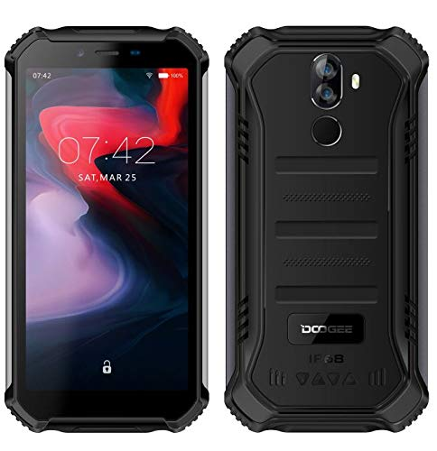 【2019】DOOGEE S40 (3GB + 32GB) robusta 4G Android 9,0 Rugged Smartphone in Offerta - 5,5'' HD+ (Gorilla Glass 4) IP68 impermeabile Resistenti Cellulare militare, dual SIM, 4650mAh, GPS/NFC- Nero