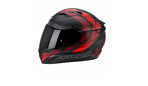 7308bcc5e6a7a Scorpion Motorcycle helmets EXO-1200 AIR HORNET Matt Red Neon   Amazon.co.uk  Car   Motorbike