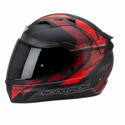 Scorpion EXO-1200 Air Hornet – Casco de moto, color negro/rojo, talla S