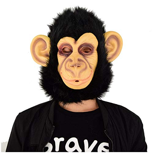 qiaoaoa Halloween Schimpansen Latex Maske Neuheit Kostüm Party Kostüm Tier Masken (Zombie Schimpansen Kind Kostüm)