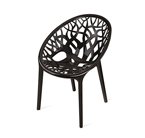 Nilkamal Crystal Chair (Black)