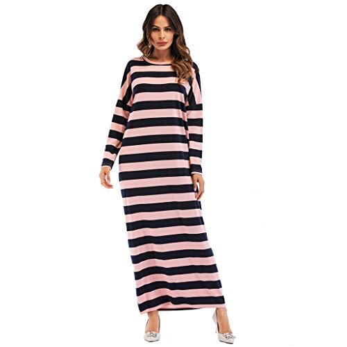 ZEELIY Damen Muslimische Stickerei Langarm Kleid Elegant Tunika Abaya Dubai Kleider Maxikleid Abendkleid Muslim Frauen Knöchellang Kleid Hochzeit Kaftan Robe Gewand Islamische Kleidung Burqa -